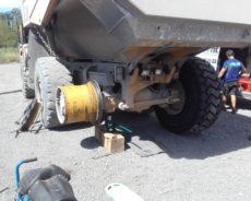 Montáž pneu na kloubový dempr
